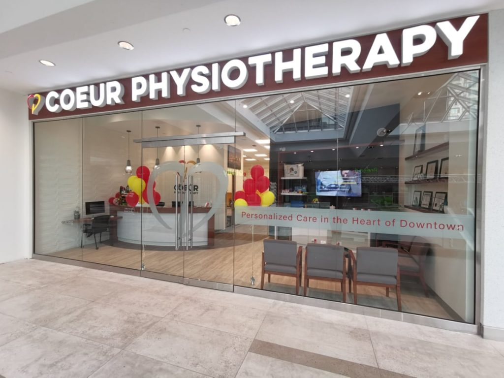 Outside Coeur Physiotherapy Edmonton